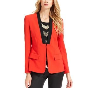 Vince Camuto Red Structured Tuxedo Blazer Size L